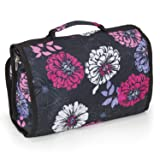 Hanging Travel Organizer Toiletry Bag, Cosmetic and Makeup Bag for Women, Ideal Shower Organizer Personal Care Accessory Bag (Floral Bloom)