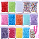 Foam Balls for Slime,16 Sets with Slime Tools (120000 pcs) 0.08-0.32 inch Colorful Styrofoam Balls Beads Mini Small Foam beads for Slime Decorative Ball Arts DIY Crafts Supplies For Homemade Slime (Color: foam beads 16 pack)