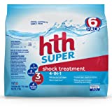 hth Pool Shock Super Shock Treatment 6 count 6lbs (52008) (Tamaño: Pack of 6)