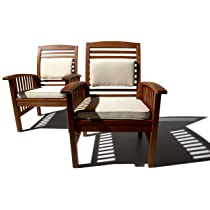 Image of A Teak Alternative - All-Weather Eucalyptus Hardwood Arm Chair