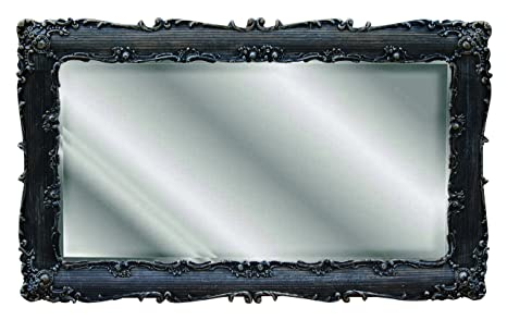 Hickory Manor House Decorative Rectangle Mirror, Black Gold Silver