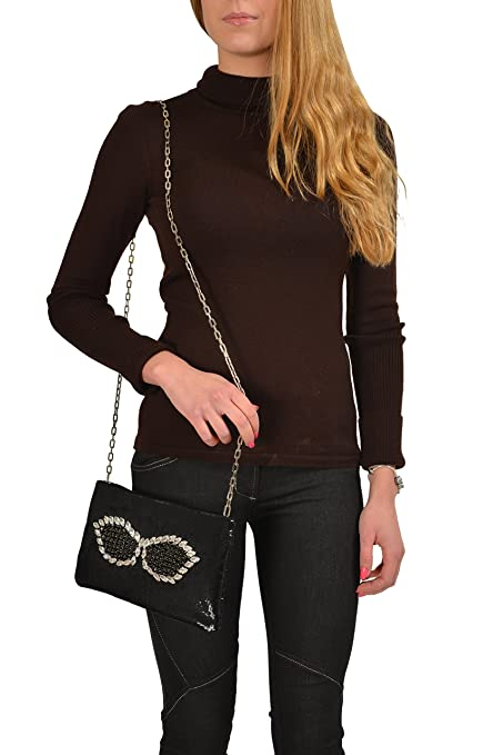Amazon.com: Prada Women\u0026#39;s Black Sparkle Crossbody Clutch Bag: Clothing
