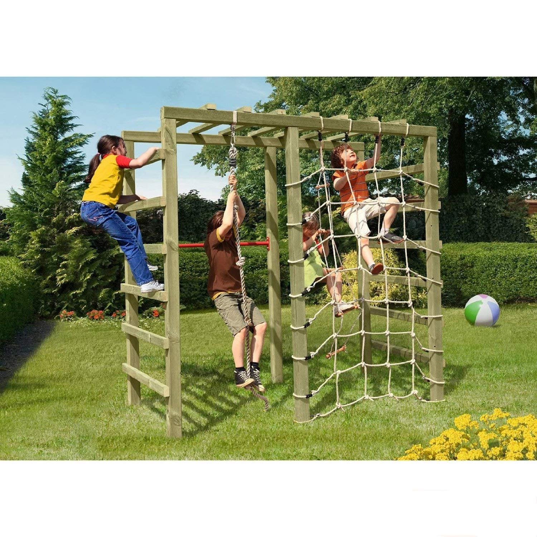Gartenpirat Klettergerüst Spielgerüst aus Holz für den Garten mit Reck und Kletternetz von Gartenpirat® günstig bestellen