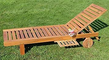 ASS Eve Chaise longue pour le jardin ou la plage en bois d& ...