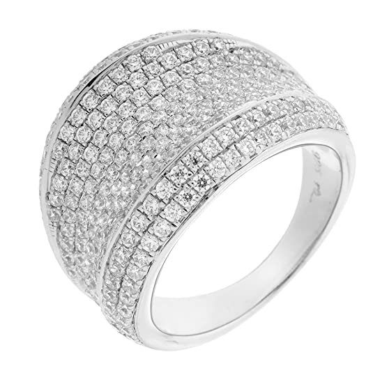 Orphelia Women's Ring Rhodium-Plated 925Sterling Silver Brilliant Cut Cubic Zirconia White/Size: 56(17.8)-3517/56