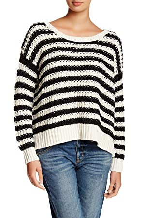 Free People At the Beach Striped Pullover - Medium