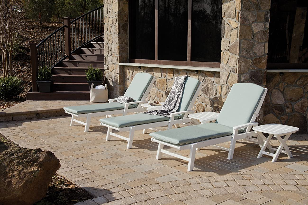 Trex Outdoor Furniture Yacht Club Stackable Chaise Lounger with Arms, Vintage Lantern 4