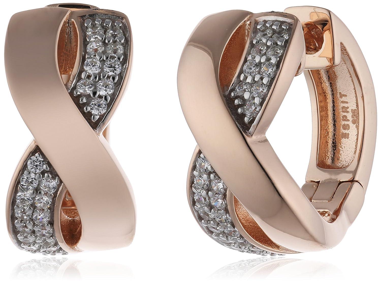 Esprit Damen-Creolen 925 Sterling Silber Zirkonia Vibrant ESCO91900B000 online bestellen