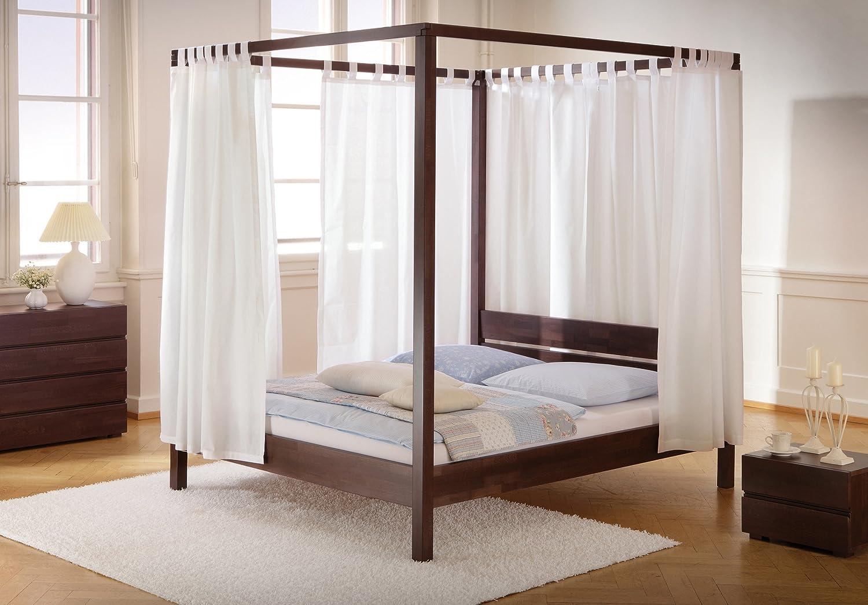 Stilbetten Bett Holzbetten Himmelbett Caspar Buche Schoko 180×200 cm online kaufen