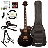 Sawtooth ST-H68C-LH-STNBK-KIT-1 Heritage Series Left-Handed Maple Top Electric Guitar, Satin Black (Color: Left-Handed Satin Black, Tamaño: Kit 1)