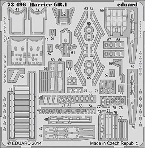 Eduard Photoetch 1:72 - Harrier GR.1 S.A. (Airfix) (EDP73496)