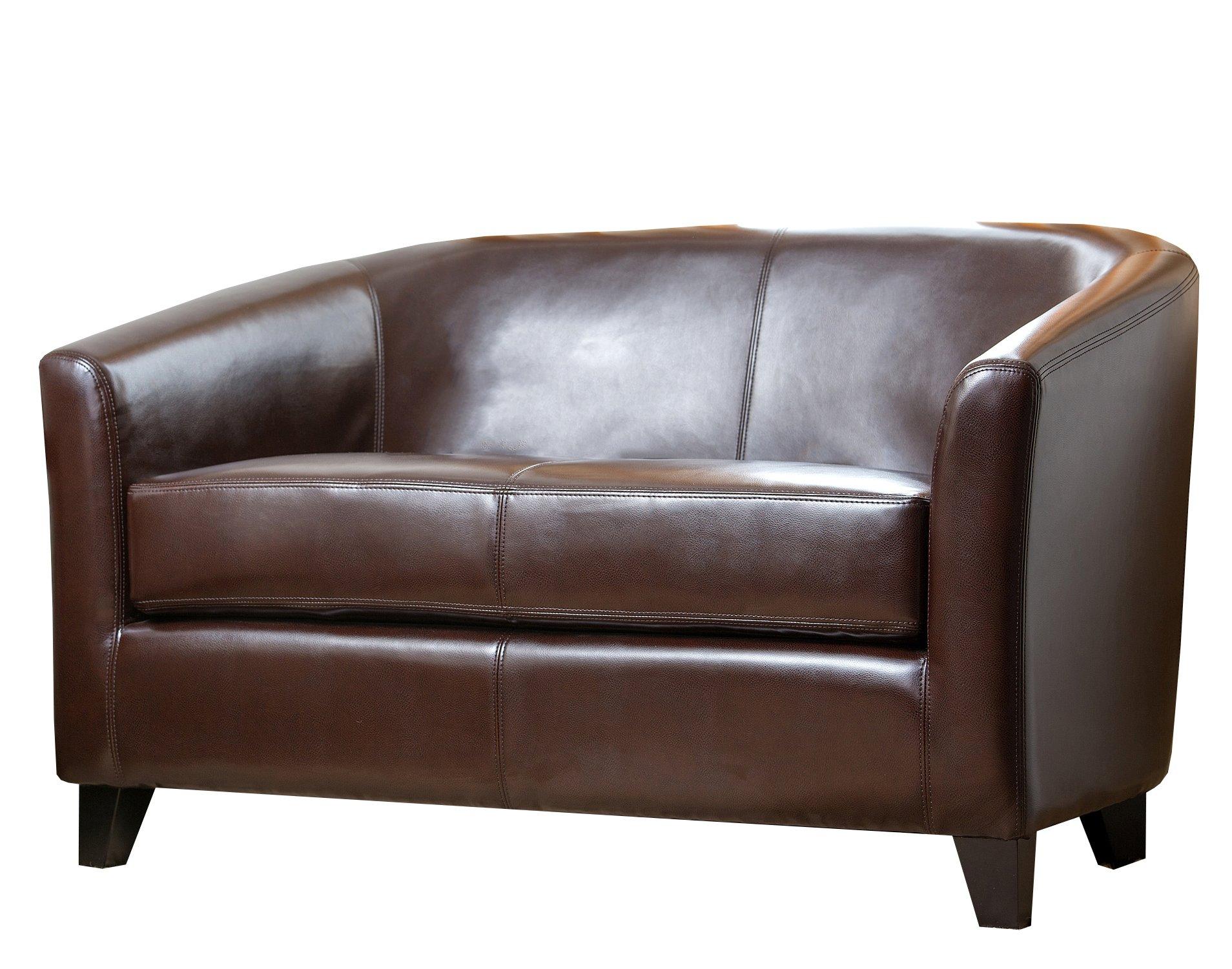 Abbyson Living Montecito Leather Loveseat