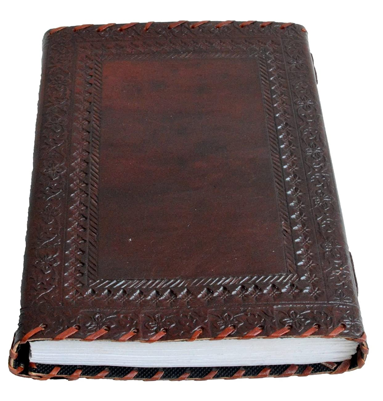 Genuine Leather Journal Vintage Antique Style Organizer Blank Notebook Secret Diary Daily Journal Personal Diary - Maroon 2