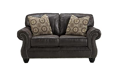Breville Brown Traditional Classics Fabric Loveseat