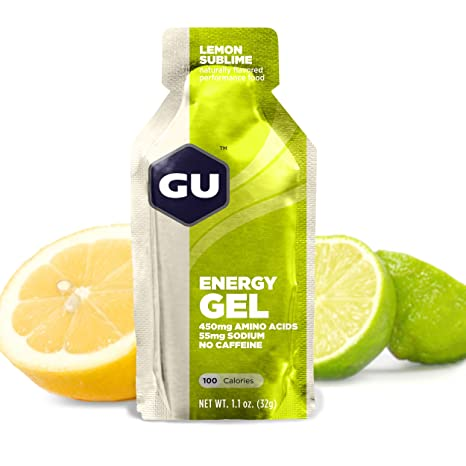 GU Energy Gel, Lemon Sublime (Zitrone), Box mit 24 x 32 g