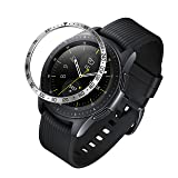 ANCOOL Compatible Samsung Galaxy Watch 42mm/Gear Sport Bezel Ring Adhesive Cover Anti Scratch Stainless Steel Protector Design for Galaxy Watch 42mm/Gear Sport -Silver (Color: Q-17, Tamaño: 42mm)