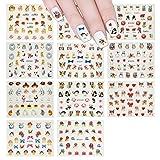 ALLYDREW Furry Animals Nail Stickers 3D Nail Art (330+ Nail Stickers/11 sheets) - Cats, Rabbits & Pandas Nail Stickers, Easter Nail Stickers
