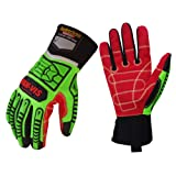 Seibertron HIGH-VIS HDC5 Level 5 Cut Resistant Deckhand Gloves High Performance Protection Impact Resistant Oil and Gas Safety Gloves CE EN388 4543 L (Color: HDC5, Tamaño: HDC5-L)