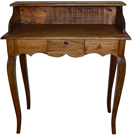 Style français Secrétaire Table Coiffeuse Bois Medium Wood Tone Country Style