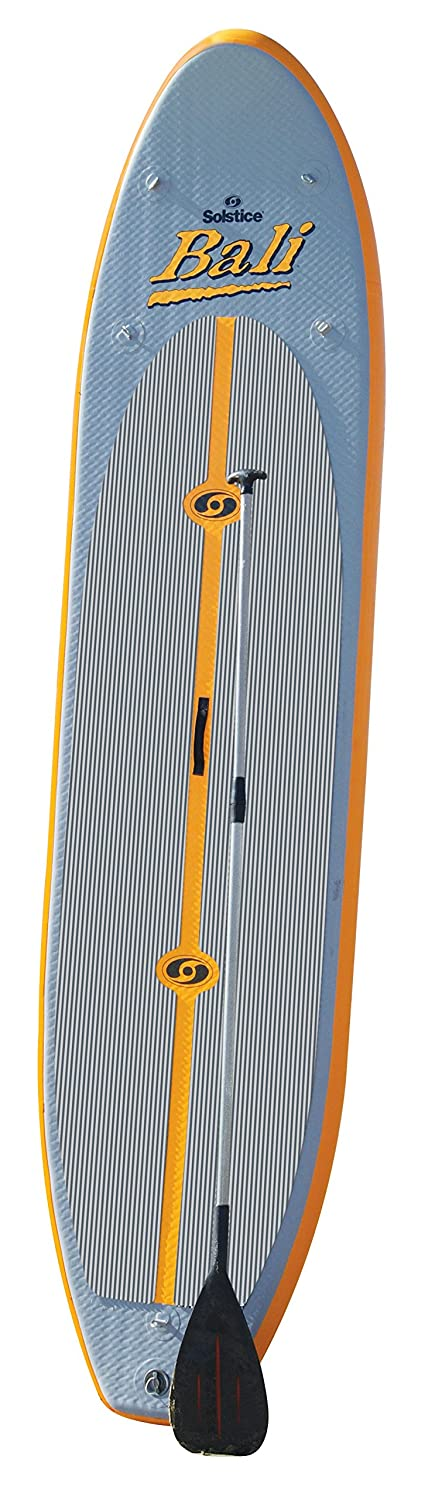 Solstice Bali Inflatable Stand Up Paddleboard with Paddle, Orange/Grey, 10-Feet 8-Inch high pressure dc 12v electric air pump for inflatable boat dinghy raft sup surf board stand up paddle kayak canoe c73002