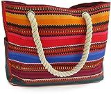 Odyseaco Baja Beach Bag Waterproof Canvas Tote, Large (Color: Multicolored, Tamaño: Large)