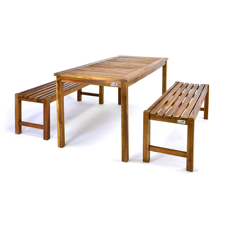 DIVERO Gartenmöbelset Picknickset Akazienholz Bank Tisch online bestellen