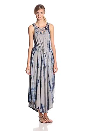 DKNY Jeans Women's Macrame Maxi Dress, Pebble, X-Small