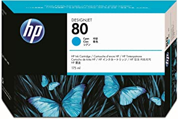 HP N°80 Cartouche d'encre d'origine Cyan C4872A