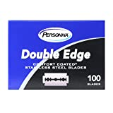 Personna Double Edge Razor Blades Comfort Coated Stainless Steel Razor Blades for Safety Razors Barber Quality Box of 100