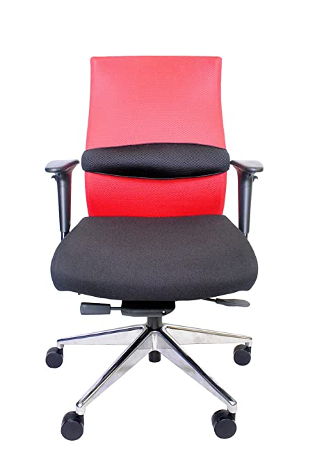 ZipAir Plus Active and Supportive Ergonomics SwivelHeight Adjustable Chair, Red