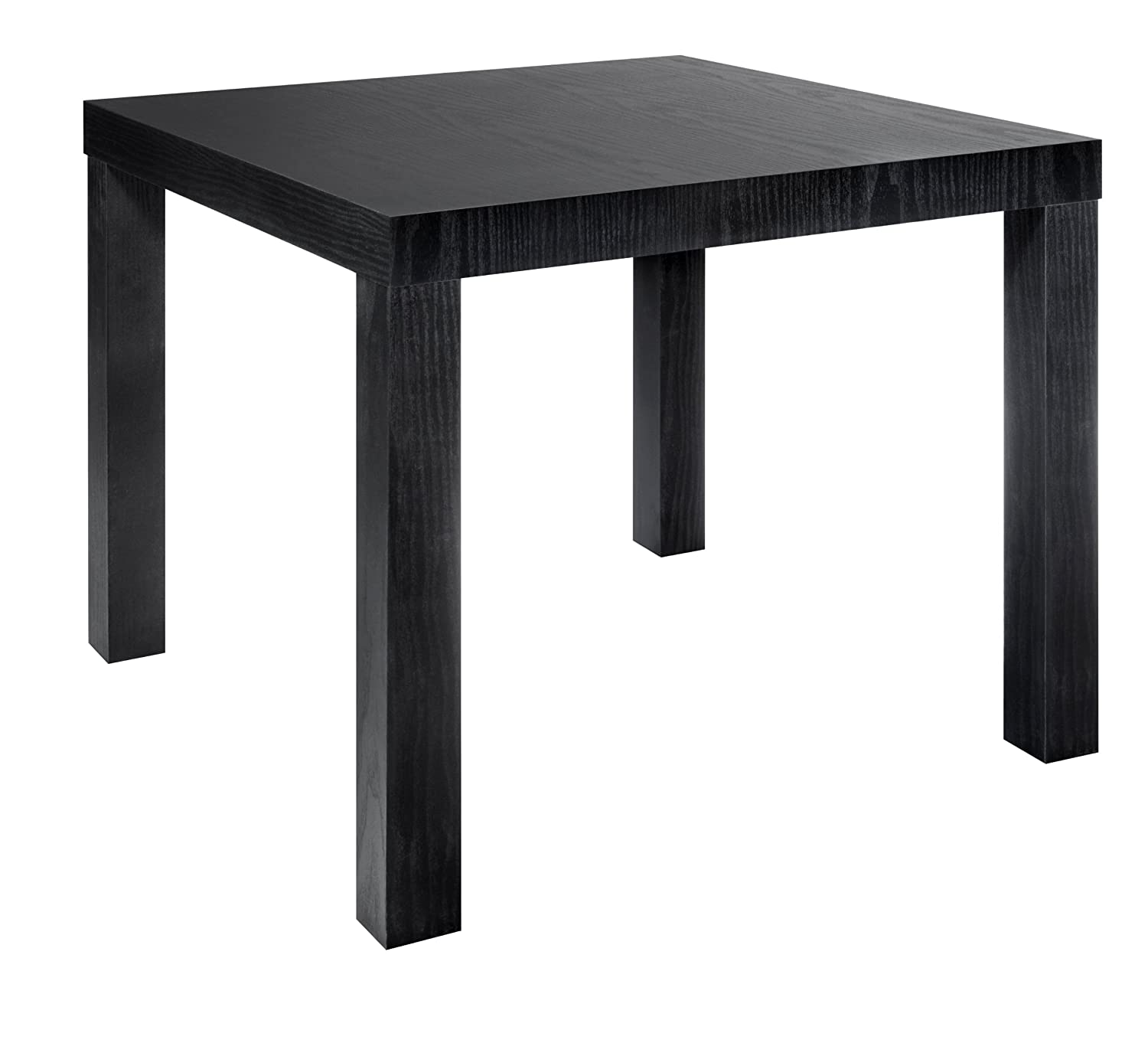 Modern style black wood grain end table living room for Modern living room no coffee table
