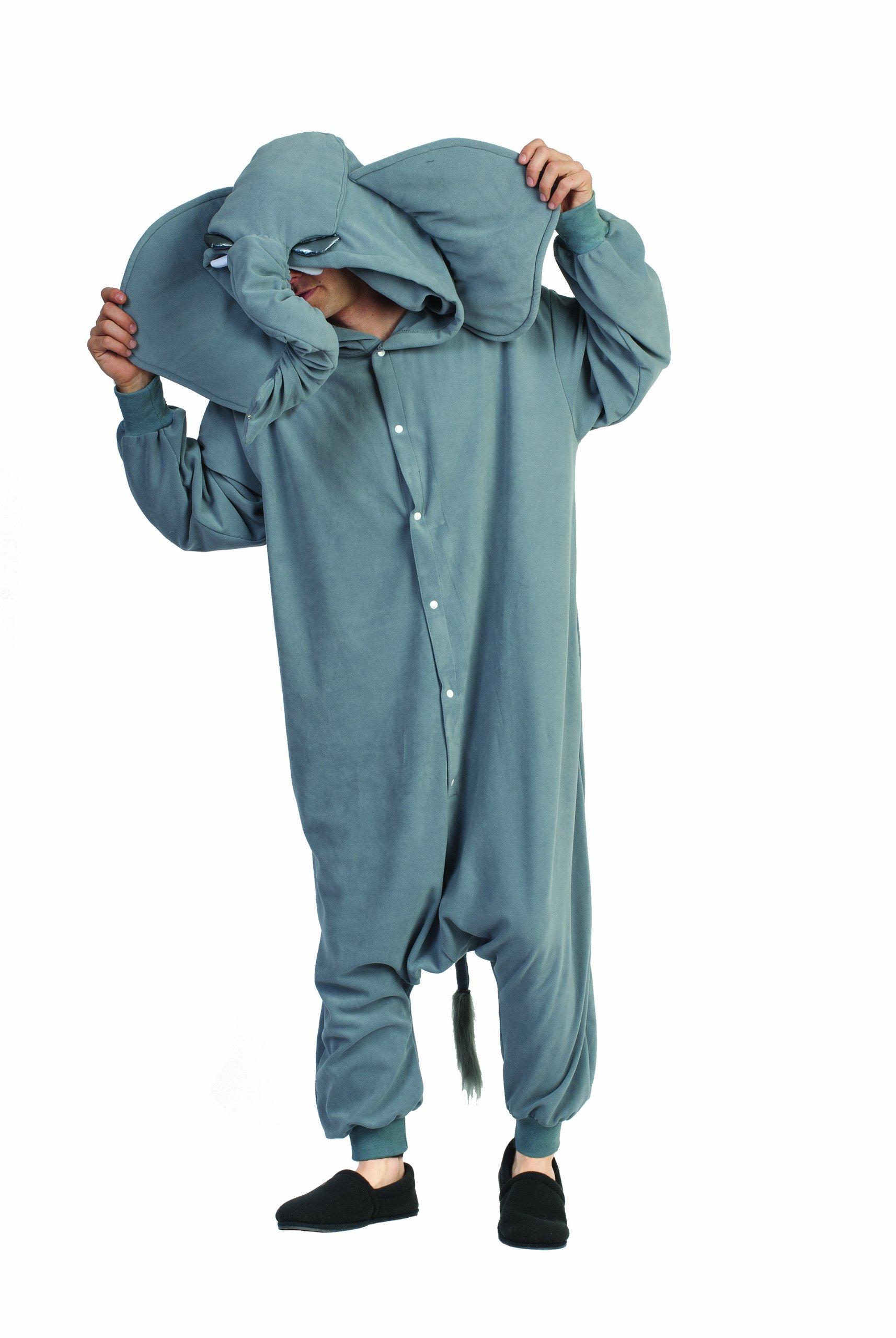 Funsies Kigurumi Peanut Elephant Fleece Jumpsuit Costume Adult