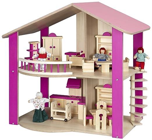 Dollhouse rose - compl. avec des personnages de jeu