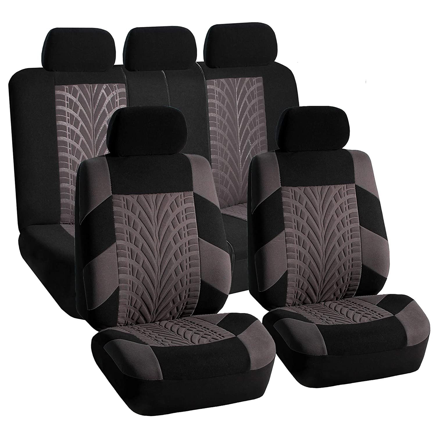 Split Bench Seat Covers ~ Car seat covers for auto split bench airbag ready gray