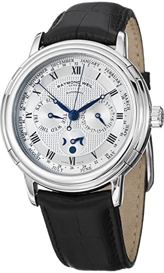 Raymond Weil Maestro Phase de Lune Semainier Mens Watch 2859-STC-00659