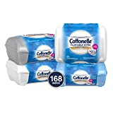 Cottonelle FreshCare Flushable Wipes for Adults, Wet Wipes, Alcohol Free, 42 Wet Wipes per Pack, Pack of 4