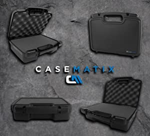 Casematix Handheld Radio Carry Travel Case with Customizable Foam Fits 2 Motorola MH230R MS350R , Midland LXT500VP3 GXT1000VP4 , BaoFeng BF-F8HP UV-82HP , Walkie Talkies and Accessories