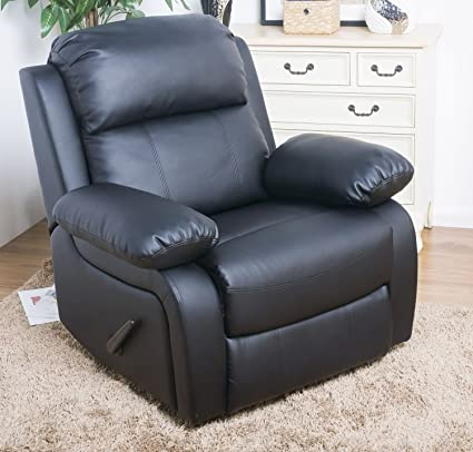 Merax Best-selling Plush Black Leather Recliner