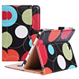 ProCase Samsung Galaxy Tab S2 8.0 Case - Leather Stand Folio Case Cover for 2015 Galaxy Tab S2 Tablet (8.0 inch, SM-T710 T715 T713) - Circles (Color: z- Circles, Tamaño: Galaxy Tab S2 8.0 (SM-T710))