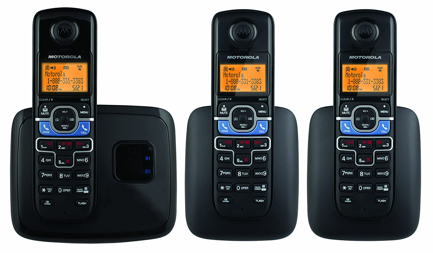Motorola-DECT-6-0-Cordless-Phone-with-3-Handsets-Digital-Answering-System-and-Mobile-Bluetooth-Linking-L703BT