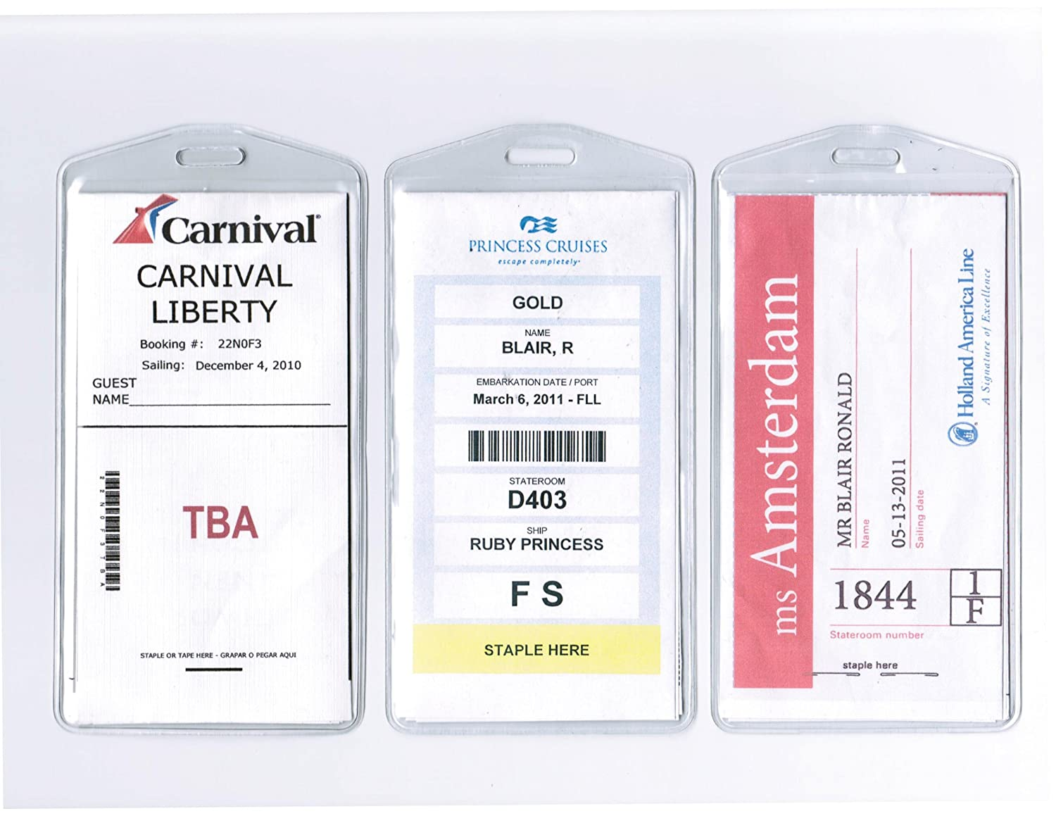Cruisetags, Cruise Ship Luggage Tags (8 Pack)