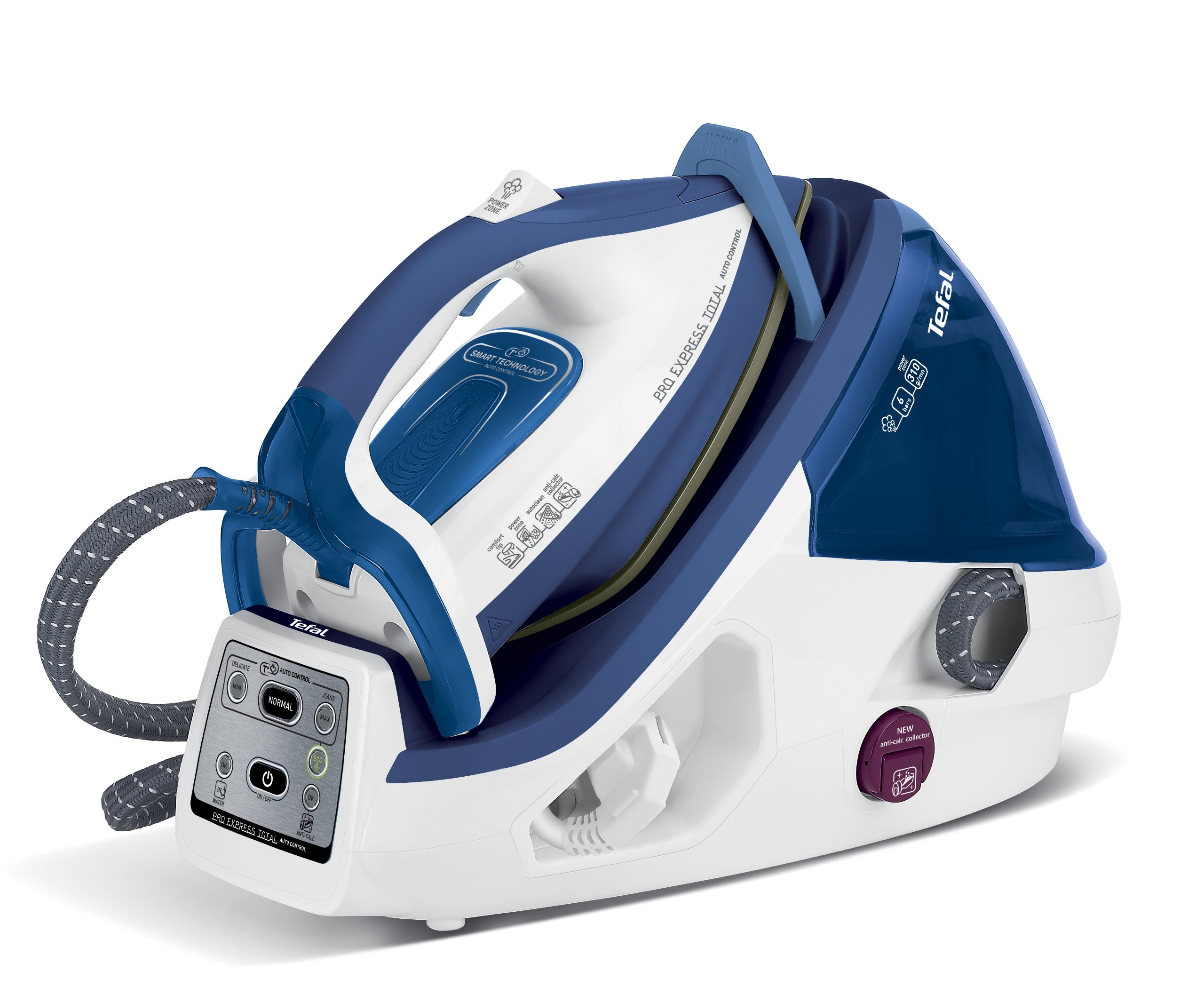 Tefal GV8930 Pro Express Total Auto Control Steam Generator Iron - Blue/White
