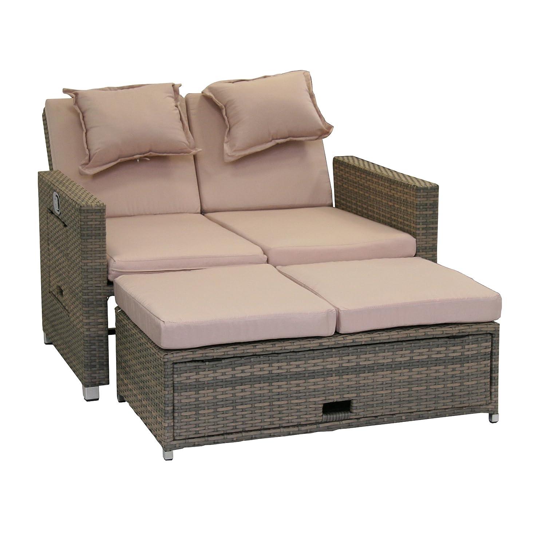 Greemotion 429106 Bahia Bett Twin grau geteilte Rückenlehne günstig bestellen