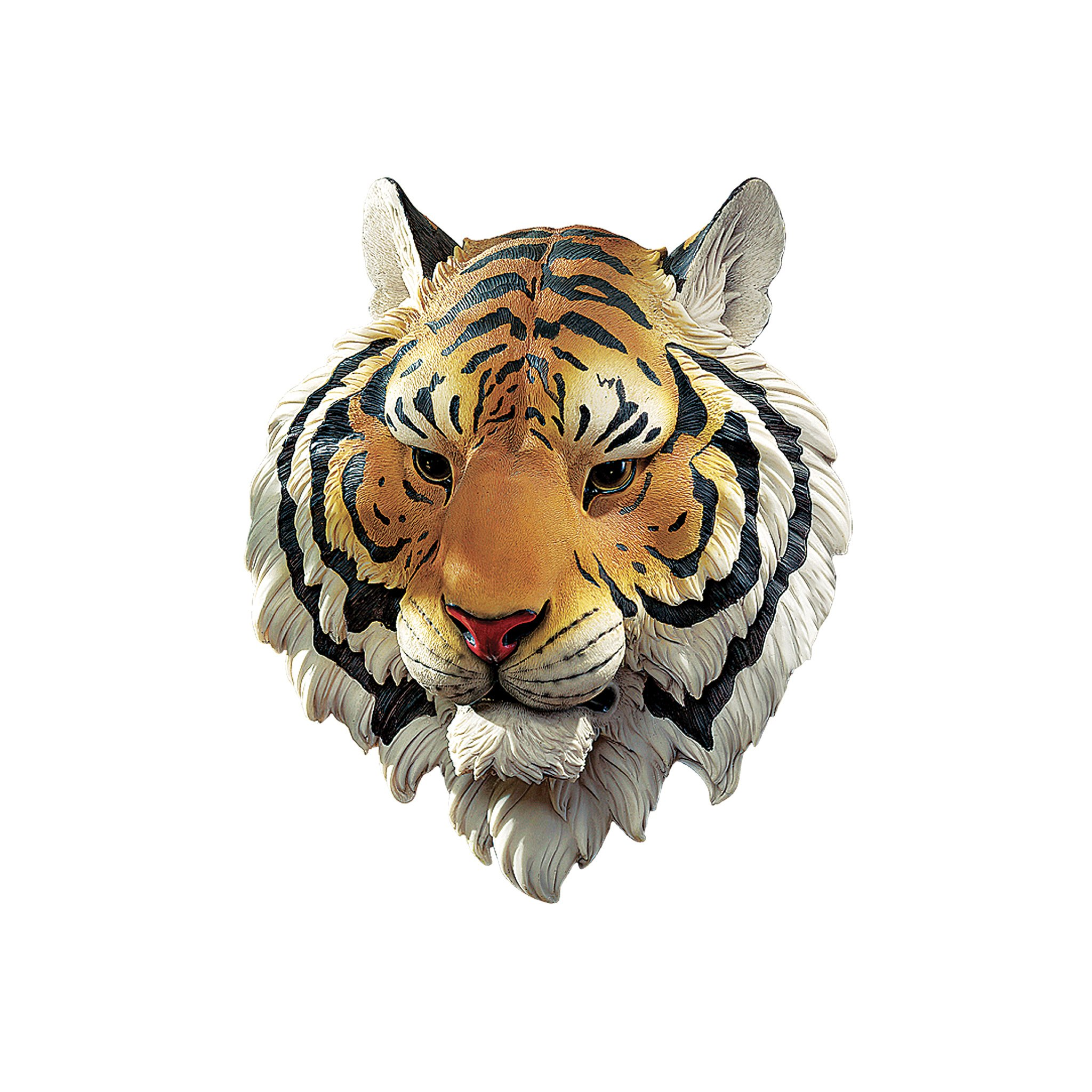 design toscano indochinese tiger wall sculpture white
