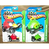RARE ANGRY BIRDS HOT WHEELS CAR SET MINION & RED BIRD VEHICLES 2013
