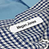 100 Printed Iron-on Name Labels / Tags for School, Care, Nursing or Camp (Tamaño: 100 Labels)