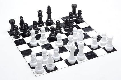 Garden Games - 802 - Jeu jardin d'échecs - 30 cm de haut - 1,2 m de carré - Mat