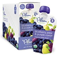 12-Pack Plum Organics Baby Second Blends, Blueberry, 4.0-Ounce Pouches