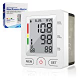 [2019 New] Blood Pressure Monitor, Automatic Digital Wrist Blood Pressure Cuff Monitor Clinically Validated Accurate & Fast Reading Sphygmomanometer with FDA Approved (Color: White)