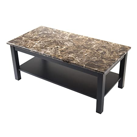 Winsome Wood Torri Coffee Table with Faux Marble Top